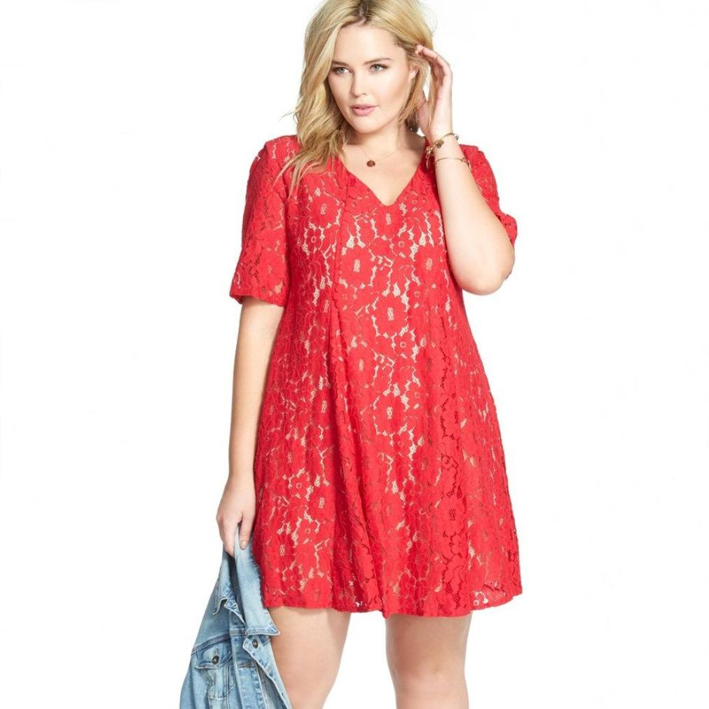 Plus Size Lace Dresses 2017 Plus Size Women Clothing Xl 5xl Red ...