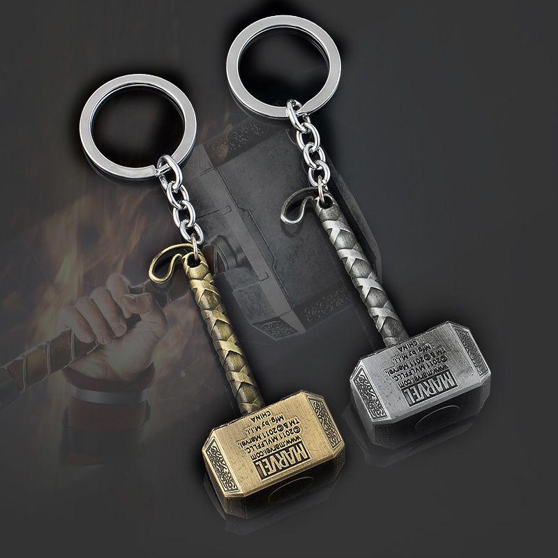 1caee75cd3d8 Hot Marvel Comics Super Hero Pendant Key Chain The Avengers Mjolnir Thor  Hammer Keychain Keyring Chaveiro Key Ring Keyring From Cascoo