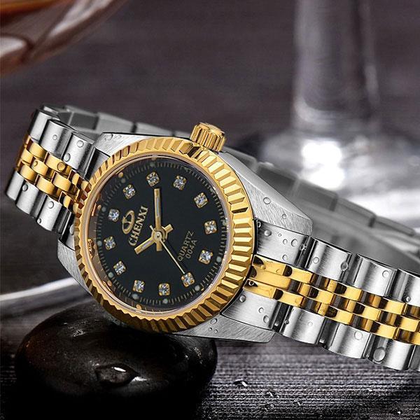 Compre Relojes De Oro Para Mujer Relojes De Moda Para Mujer Marca De Lujo  Reloj De Cuarzo De Muñeca De Oro Reloj Femenino Relogio Feminino Montre  Femme A ... 50f6145e3e8c