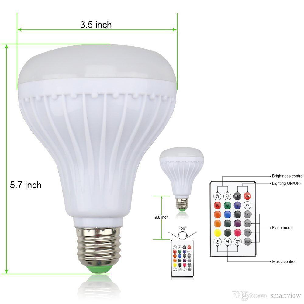 Drahtlose 12 Watt Power E27 LED RGB Bluetooth Lautsprecher Birne Licht Lampe Musik RGB Beleuchtung mit Fernbedienung