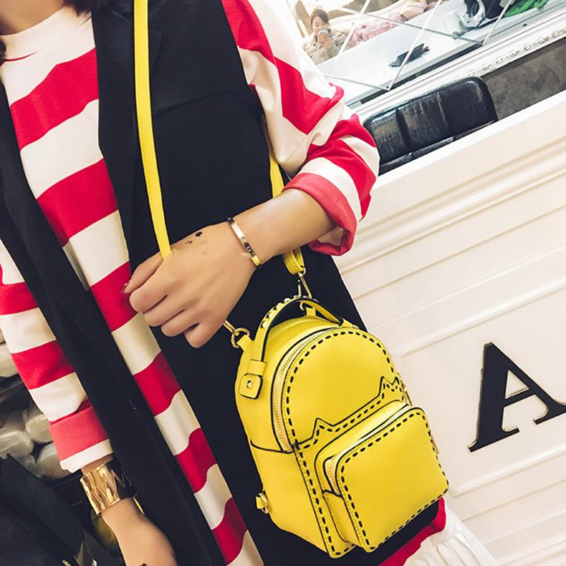 2019 brand fashion women stud backpack catwalk rivet handbag double strap back pack bags lady purse party cat thread sequin candy - XX01