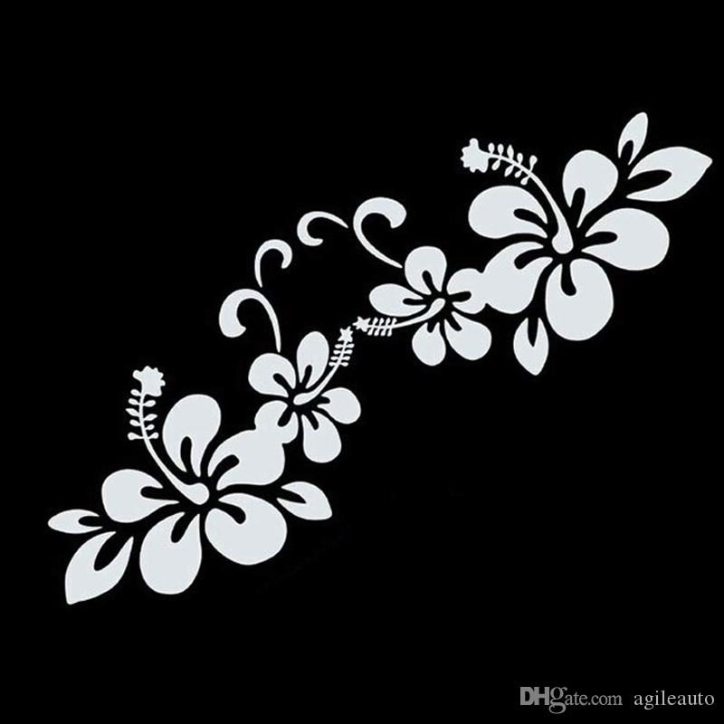 New Arrival Plant Flower Bumper Personalized Creative Car Sticker Black/White CEA_301