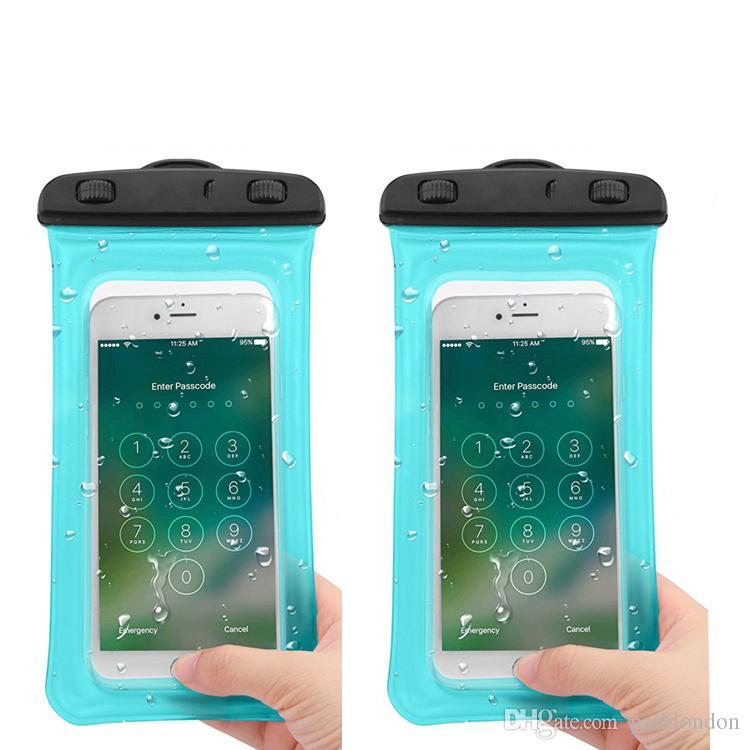 Sıcak satış 2 Stil açık PVC plastik kuru kılıf spor cep telefonu koruma akıllı telefon için evrensel su geçirmez çanta