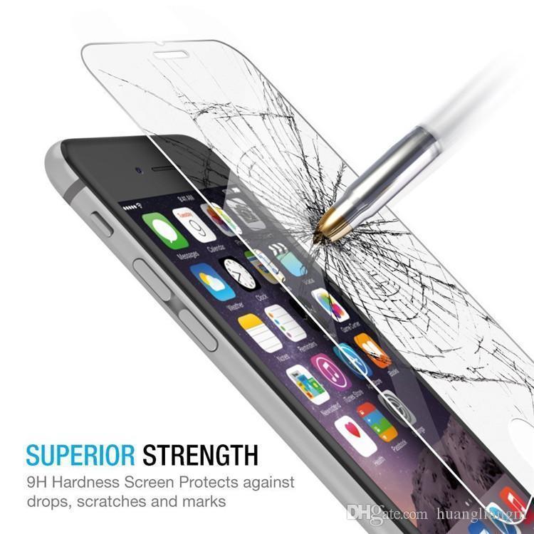 Iphone 7 Için iyi kalite 7 artı 6 s artı iphone 5 Ekran Koruyucu Film Samsung S5 Not 5 S6 S7 Için Temperli Cam kutu