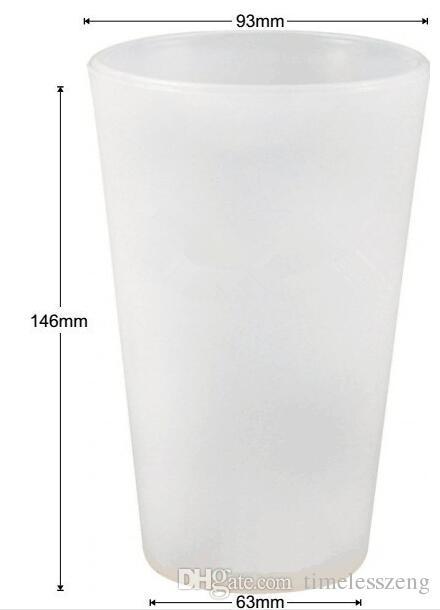 Nouveau pliant silicone verre incassable bière chopes cocktail en verre bouteille d'eau portable en plein air pour Voyage Camping Whisky bière bouteille