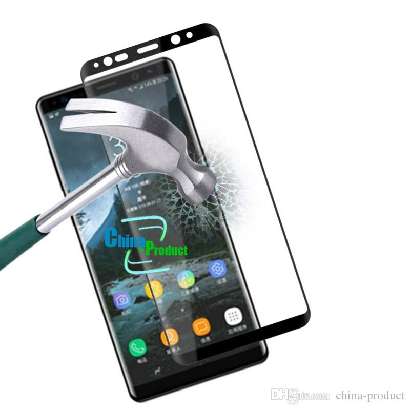 For Samsung Galaxy Note 8 3D Curved Surface Full Screen Cover Explosion-proof Tempered Glass Full Cover Film For Samsung Note8