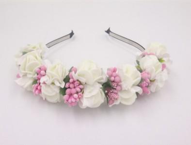 Elegant Wedding Halo Flower Crown Bridal Hair Wreath For Wedding Festivals Bridal Hair Accessories