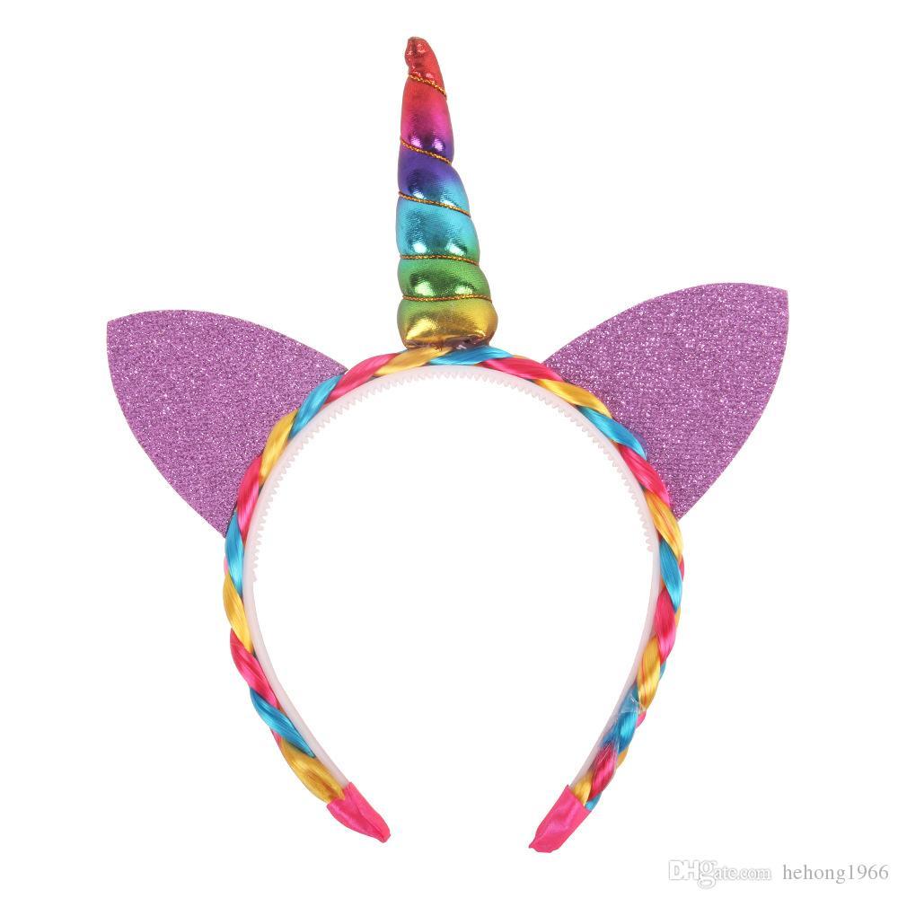 Originalité Licorne Bandeau Enfants Danse Performance Oreilles de chat Bande de cheveux Multicolore Filles Cerceau Cerceau Offrir Enfant Présent 5qy C R