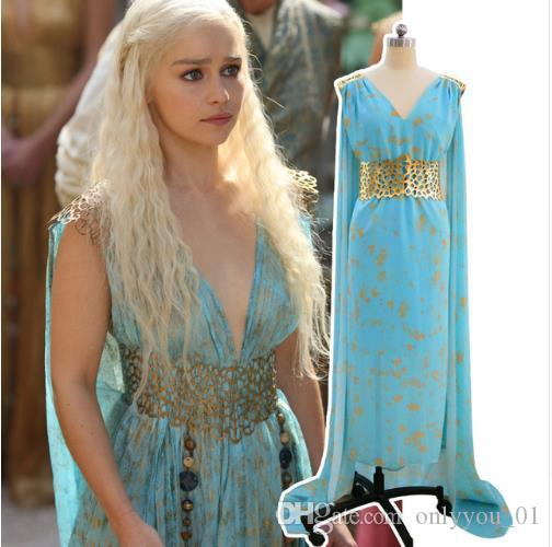 game of thrones a song of ice and fire daenerys targaryen dress cosplay costume halloween event evening party dresses women halloween costume 4 people - Halloween Costume Fire