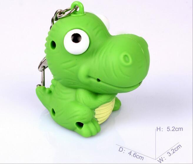 wholesale kids toy children keychain car keychain LED light keyring dinosaur flashlight sound keychain for car promotion gift 051820