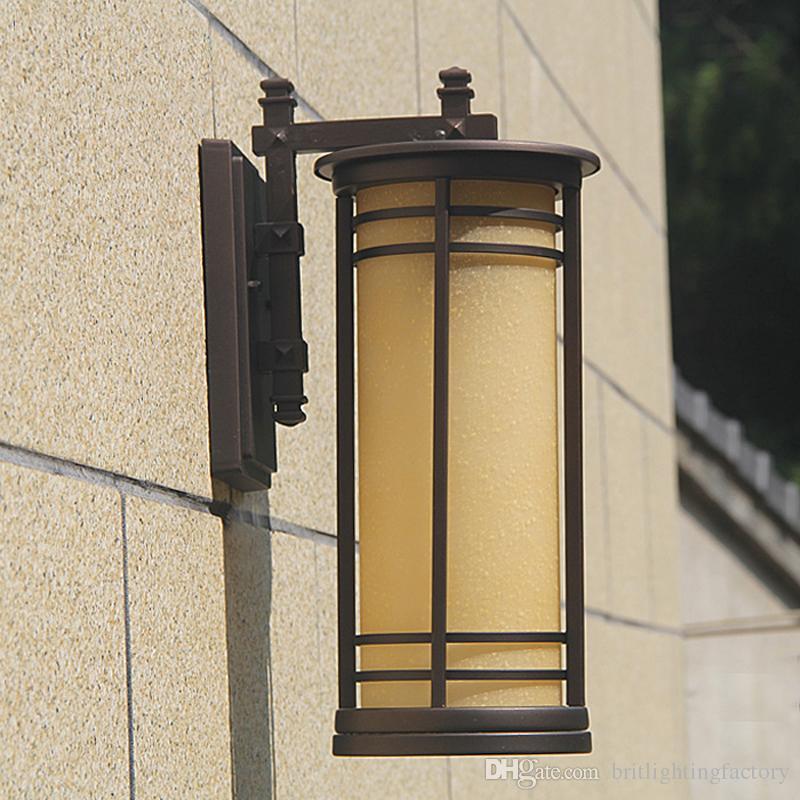 Ev için led güneş villa cortyard led ışıkları duvar lambası çubuğu kahve dükkanı ışık led yatak başucu çalışması duvar aplik avlu dış duvar lambası