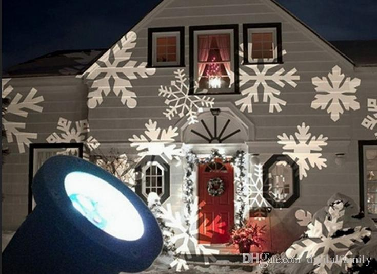 Waterproof Moving Snow Laser Projector Lamps Snowflake LED Stage Light For Christmas Party Light Landscape Light Garden Lamp Outdoor