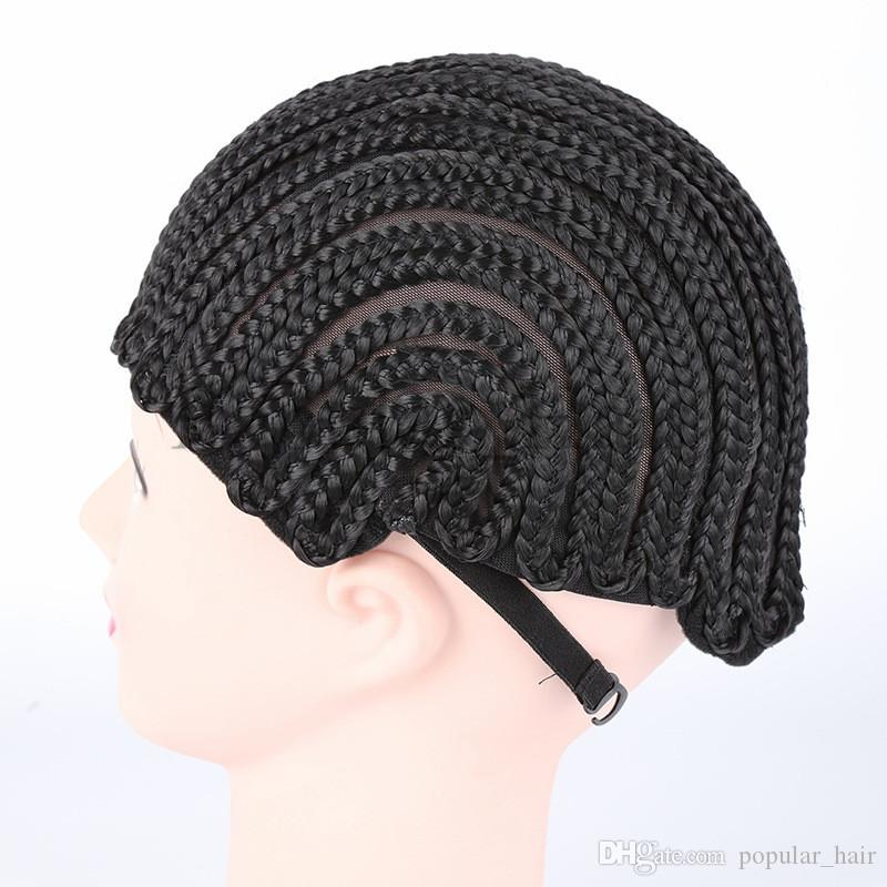Adjustable Cornrow Wig Caps For Making Wigs Adjustable Braided Wig Cap Weaving Cap For Glueless Lace Wig Making Black Friday Deals