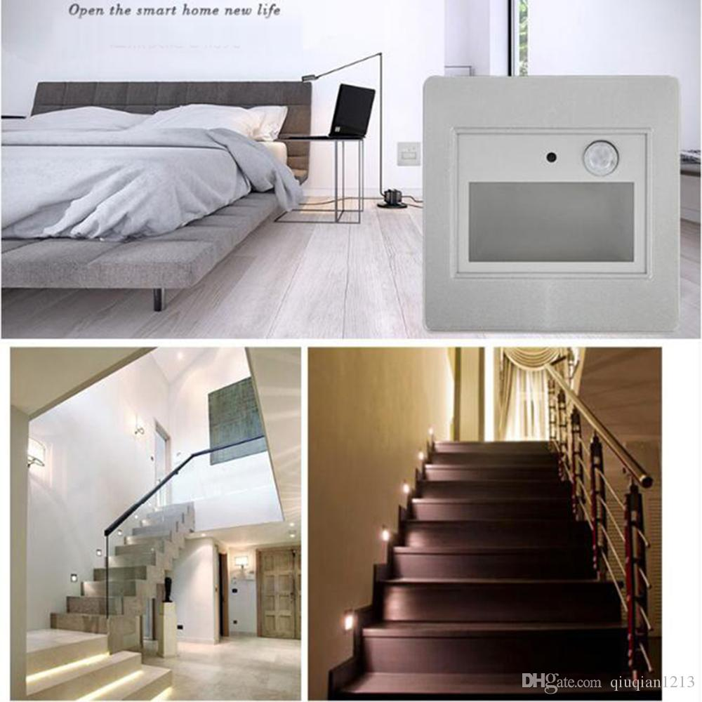2018 led intelligent emergency lamp wall recessed stair step 2018 led intelligent emergency lamp wall recessed stair step footlight night light built in safety protection device aisle porch lights 06w from aloadofball Choice Image