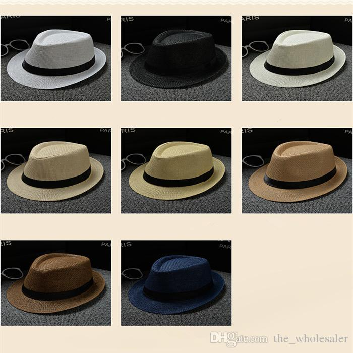 2488b6dd3df Cheap Vogue Men Women Hat Kids Children Straw Hats Cap Soft Fedora Panama  Belt Hats Outdoor Stingy Brim Caps Spring Summer Beach LC613 Vogue Men Hat  Panama ...