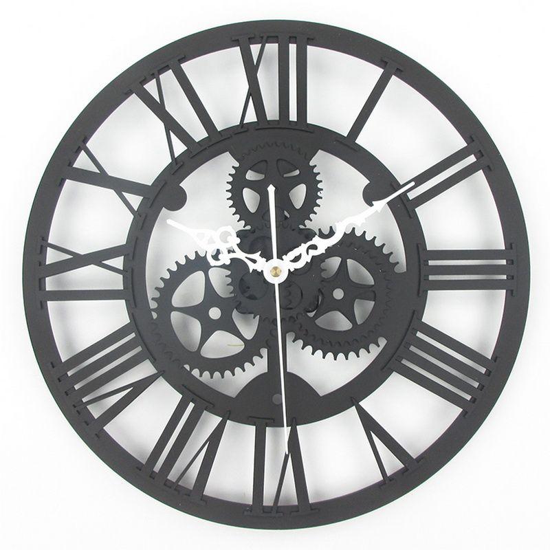 329518fd016 Acheter Gros Grande Antique Horloge Murale 3D Acrylique Gear Horloge Murale  Vintage Rétro Style Salon Grande Montre Horloge Murale De $28.11 Du Asite  ...