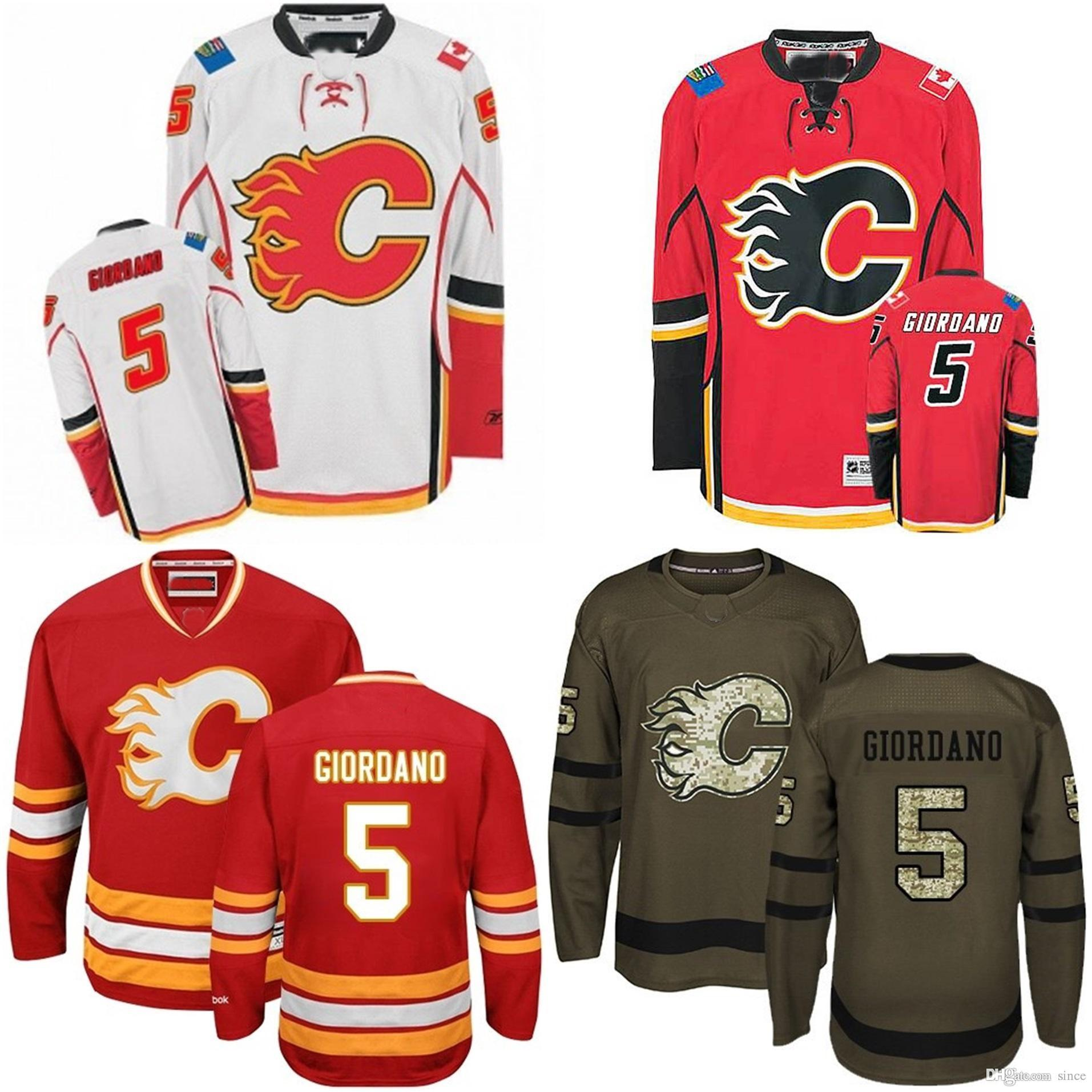 1511b07f8a6 2019 2016 New 2016 Cheap Mens 5 Mark Giordano Jersey Youth Calgary Flames Hockey  Jersey Red White Brown Authentic Kids 5 Mark Giordano Jerseys From Since