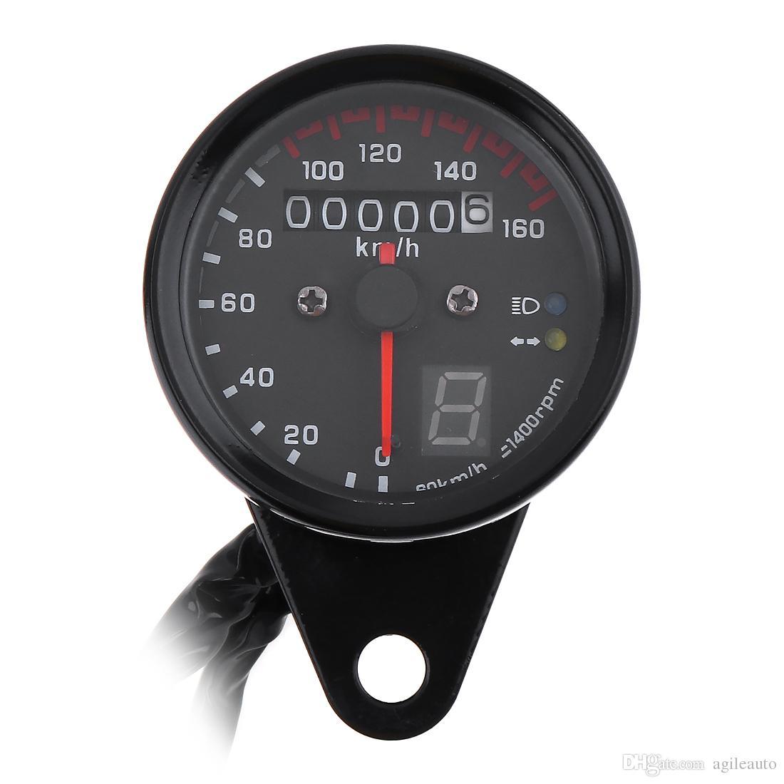 ¡Nueva llegada! Reajuste la luz de fondo del LED con la exhibición del engranaje Tabla del odómetro del kilómetro para la motocicleta 12V 0 ~ 160km / h MOT_109