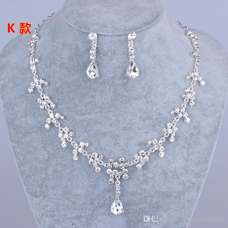 Beauty Silver Flower Pearls Bridal Necklace Tiara Earring Suits Jewelry Suits Wedding Bridal Jewelry P419001