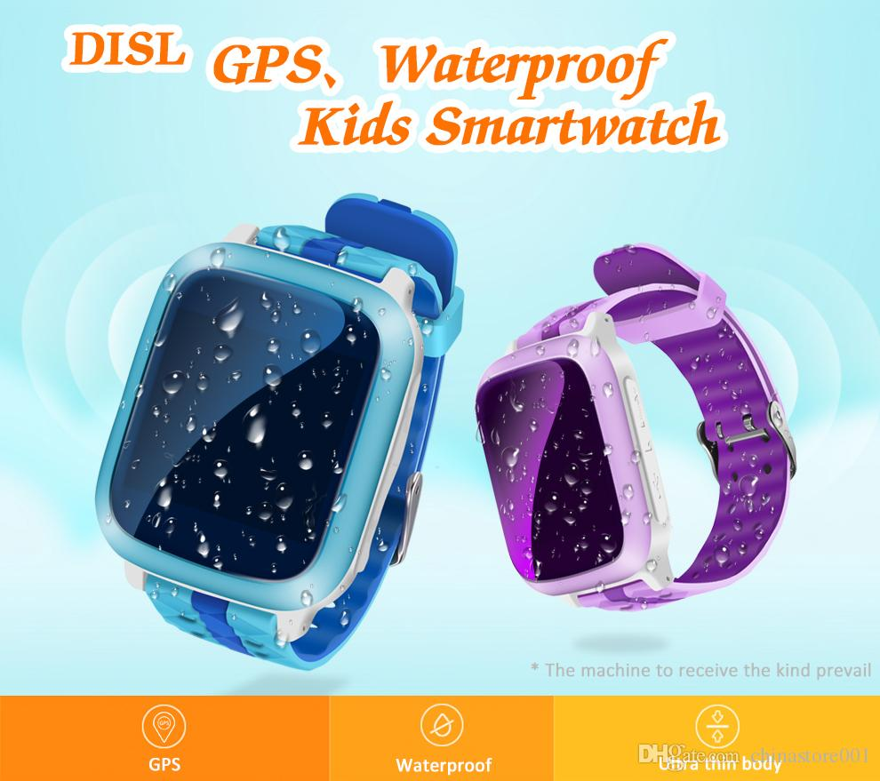 DS18 GPS Tracker Tracking Kids Children Child Smart Watch Waterproof Sim Card For Kids Xmas Gift SOS Emergency Wristwatches Remote Monitor