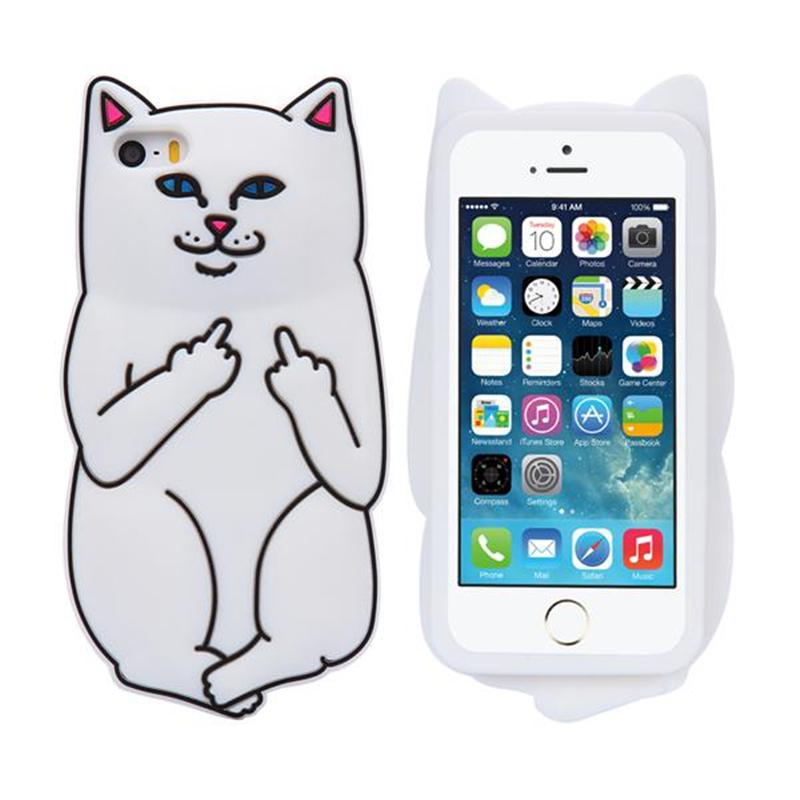 3D Soft Silicon Cat Case For Iphone7 Iphone 7 Plus Cartoon Animals Rubber Middle Finger Cover For iPhone 6S Plus US1