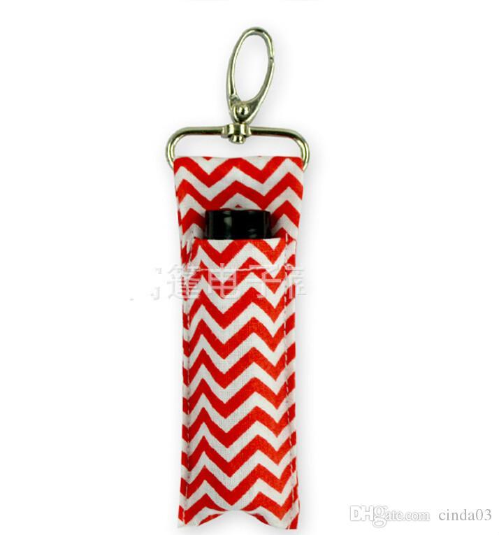 Porte-lèvres en gros-rouge à lèvres personnalisé Chevron Chapstick Porte monogrammable Multi Chevron Lip Palm Palm