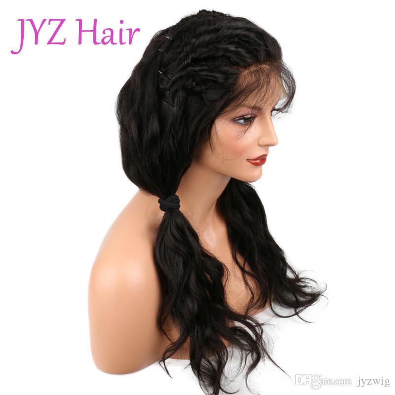 غلويليس كامل الدنتلة الباروكة البرازيلي الماليزية عالية الجودة الرباط الجبهة الباروكة الجسم موجة العذراء الإنسان الشعر الرباط الباروكات مع الشحن السريع