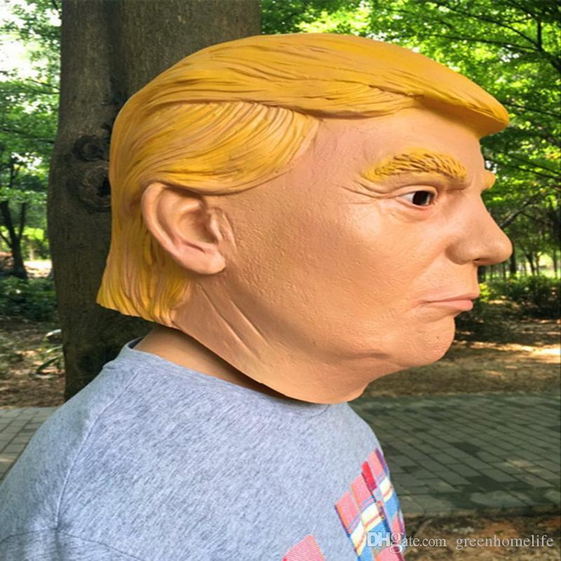Presidential Donald Trump Latex Maske umweltfreundliche volle Gesicht Latex Halloween-Parteischablone Cosplay Partei-Schablonen-Partei-Schablonen