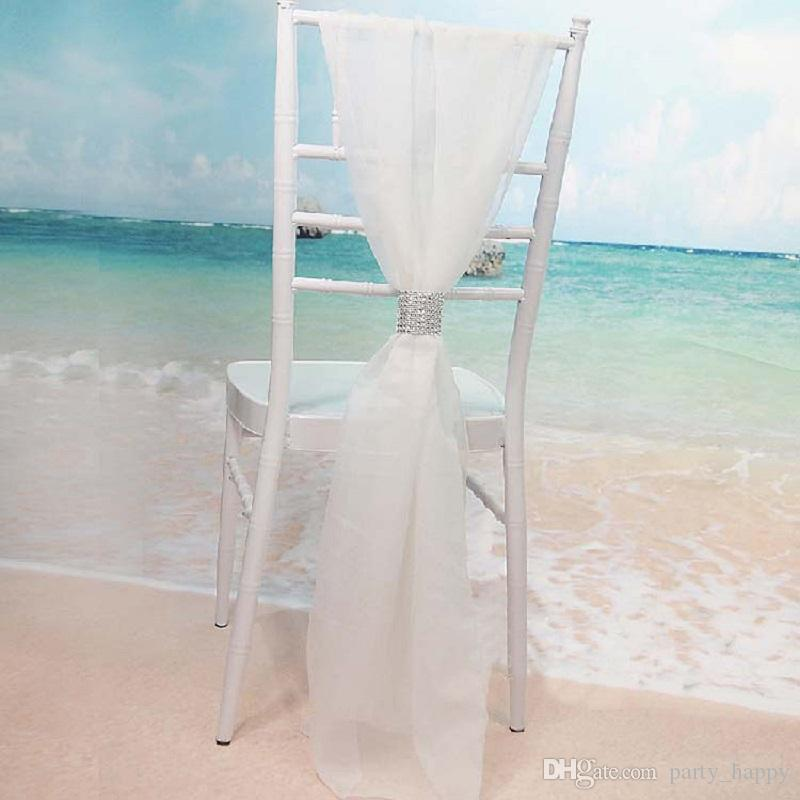 wedding decorations Chair Sashes Chiffon Delicate Wedding Decorations Party Banquet Popular Fashion Chair Covers Wedding Accessories