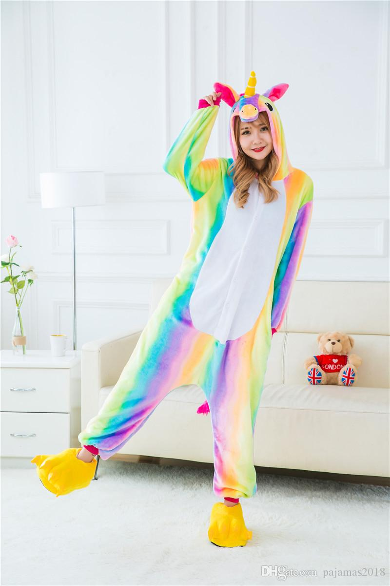 194694a04d22 Unicorn Onesie For Women Animal Pajamas Plus Size For Teens Adults ...