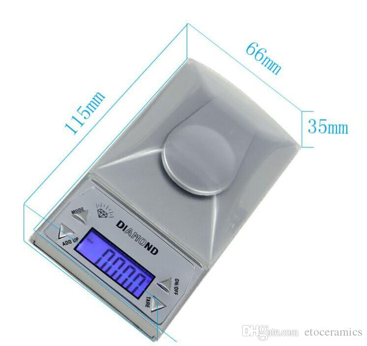 10/20 / 50G 0.001G高精度ポケット携帯用電子ジュエリースケール小型デジタルスケール