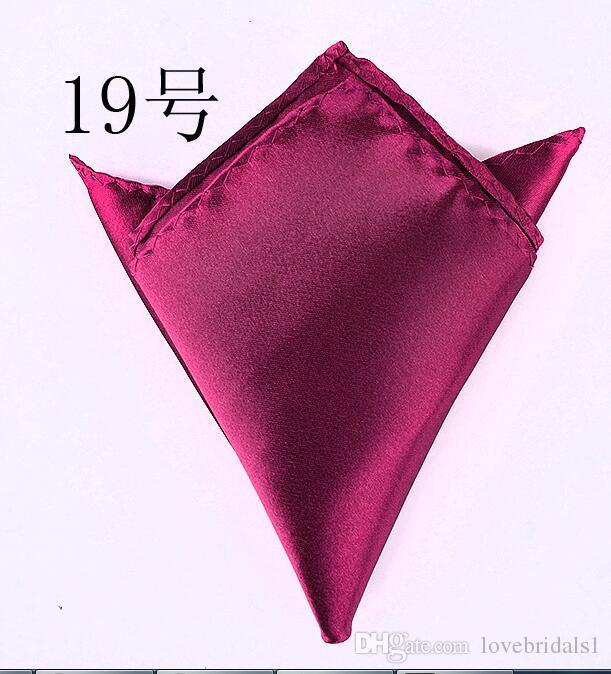 vendita calda cravatta uomo abiti tasca asciugamani fazzoletti di colore solido piccolo quadrato banchetto di nozze cravatta spedizione gratuita