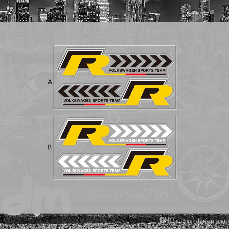 Vw Rearview Mirror Sticker Decoration R Pvc Sticker
