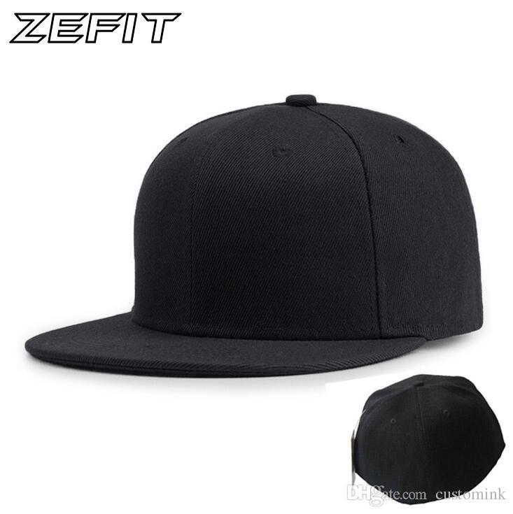 68490b3c60a48e Full close cap blank whole closure women men's leisure flat brim bill hip  hop custom baseball cap high quality fitted hat