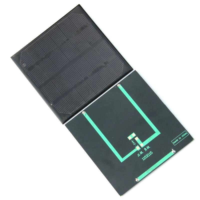 Monocrystaline Epoxy 2W 6V Módulo de células solares Diy cargador del panel solar para 3.7V Battery Study Ktis115 * 115MM de alta eficiencia envío gratuito