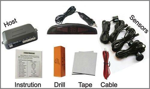 Capteurs de stationnement sans fil LED voiture PZ303-W PZ300-W 433 MHZ Rétro-éclairage Bibi Sound 4 capteurs DHL gratuit