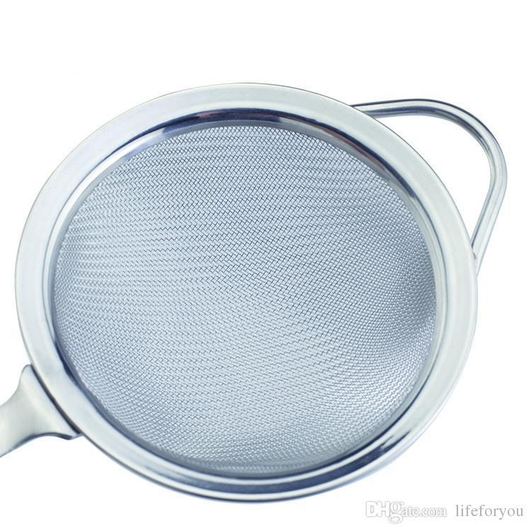 Accesorios de cocina filtro de acero inoxidable filtro de cocina filtro de jugos de fruta 3 Pack S 4 pulgadas + M 4.92 pulgadas + L 6.29 pulgadas