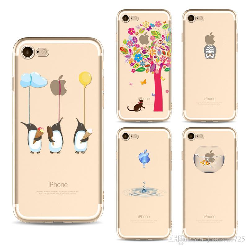 c046cdcafcb Soft TPU Phone Case For IPhone Xs Max Xr 6S 7 8 Plus Samsung Galaxy S7 Edge  S8 S9 Plus Note 8 Cute Cartoon Painted Case Back Silicone Cover Cell Phone  ...