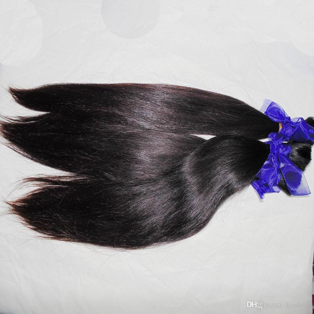 Blabla Kiss Weave Virgin Brazilian Straight Bulk Human Hair for Braiding Crochet 3 bundles deals can be curled 8A