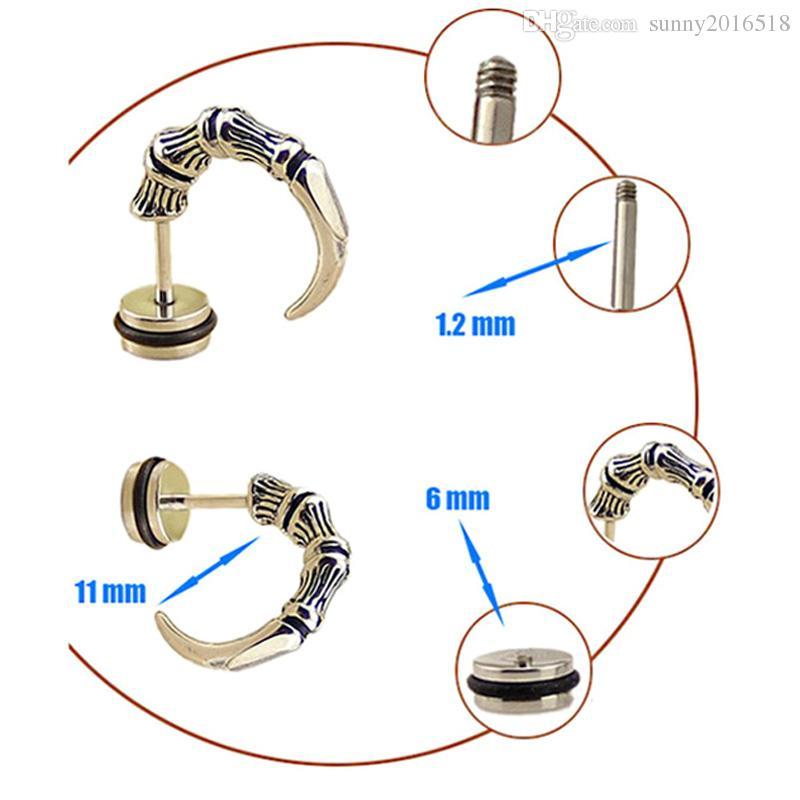 جودة عالية الأقراط التيتانيوم الصلب الشرير القوطي النسر المخلب مربط القرط خمر القرن مخروط الأذن مربط هيئة ثقب المجوهرات بالجملة