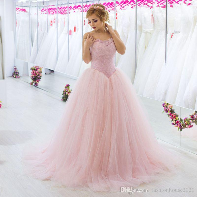 b02d3c7e8 Sparkly Pink Ball Gowns Quinceanera Dresses Sweetheart Puffy Tulle Sweet 16  Dress Plus Size Formal Prom Evening Wear Purple Quinceanera Dresses Red ...