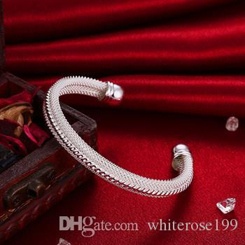 Wholesale  - 小売価格クリスマスギフト、送料無料、新しい925銀ファッションブレスレットB021