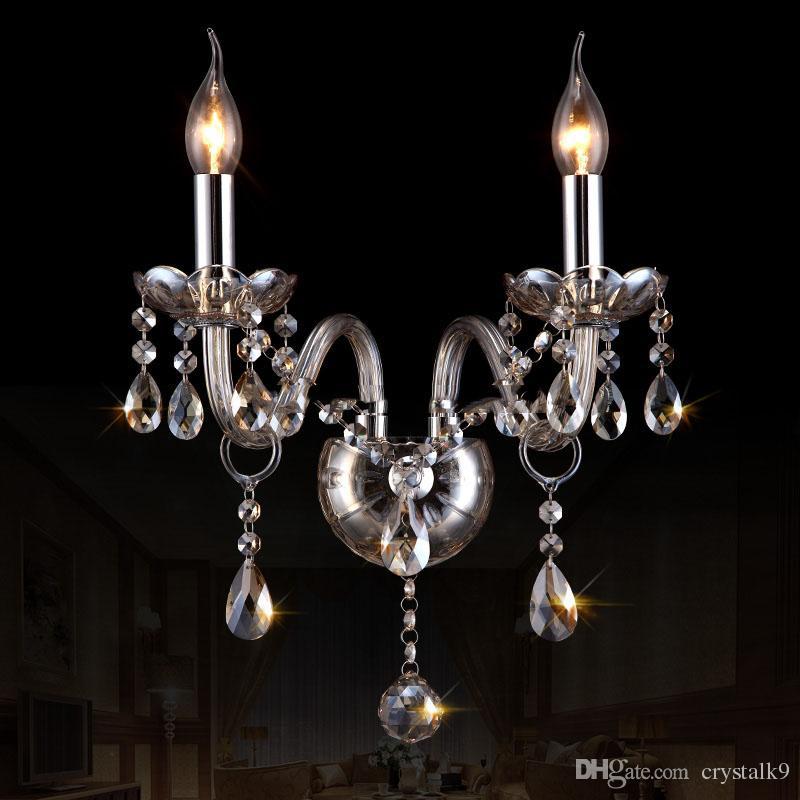 Lámparas de araña de cristal ámbar modernas Luces colgantes Lámparas de araña de cristal contemporáneas Luz Hogar Hotel Restaurante Decoración