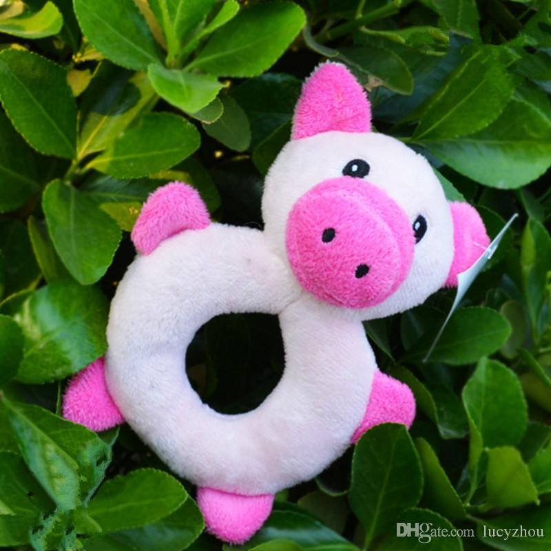 Cute Cartoon Puppy Dog Chew Squeaker Cute Duck&Pig Squeaky Plush Sound For Dog Sound Toy Teethers