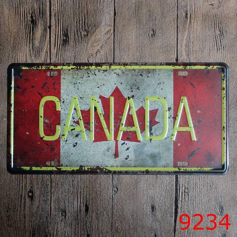 France USA New York London Canada Mexico Italy Australia Car Metal License Plate Vintage Decor Tin Sign Bar Pub Cafe Garage Metal Sign