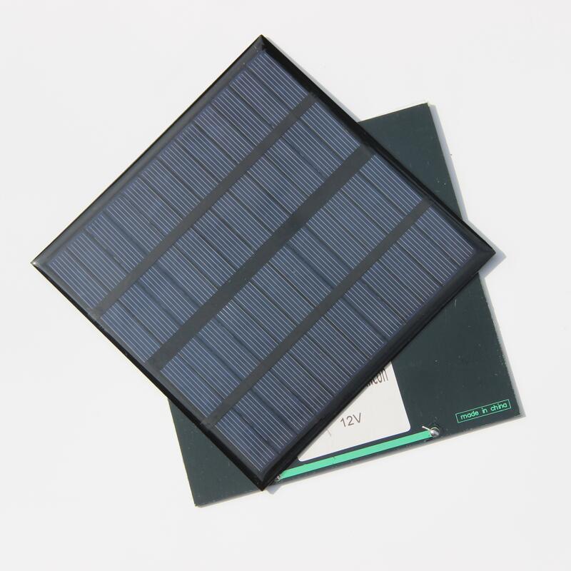 Hot 3W 12V Mini Solar Cell Polycrystallin Solpanel DIY Panel Solström Batteriladdare 145 * 145 * 3mm 10st / Fri frakt