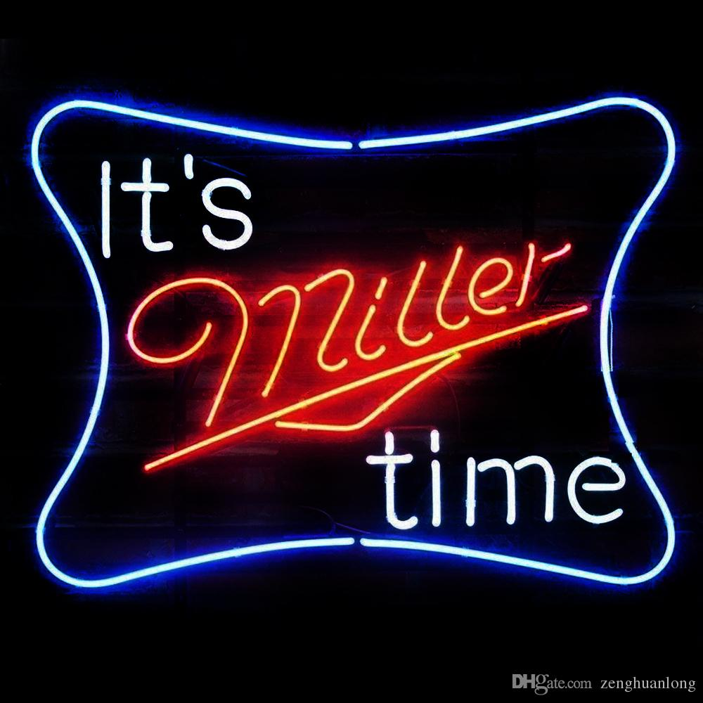 2019 Fashion New Handcraft It Is Miller Time Real Glass