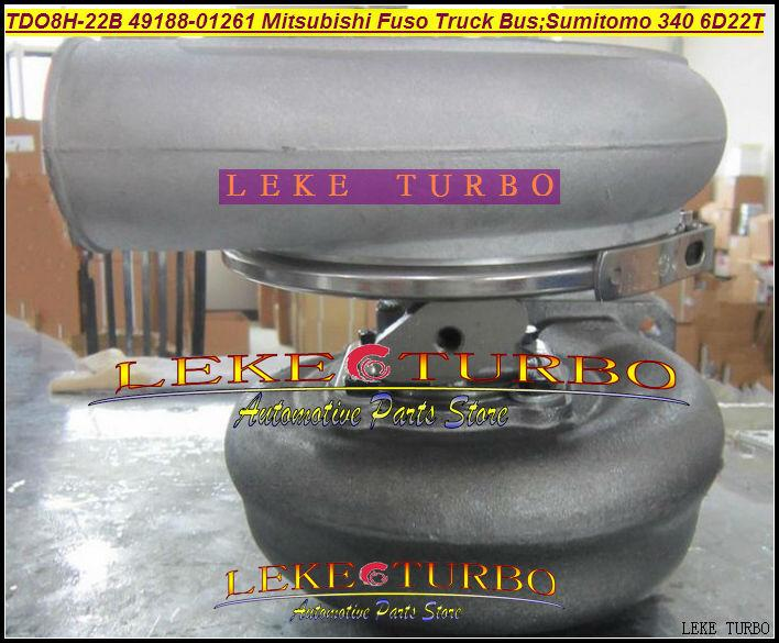 TD08H TDO8H-22B 49188-01261 Turbocharger For Mitsubishi Fuso Truck Bus; SUMITOMO340 6D22T Various Engine 6D22T 6D22T3 (2)