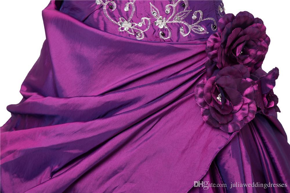 New Elegant Stock Purple / Bleu Royal Robe De Bal Robe De Quinceanera Robes 2017 Cristaux Perlés Doux 16 Robes Depuis 15 Ans Robe Debutante QC265