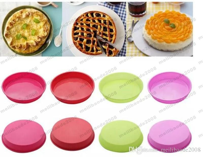 NEW Simple Round Silicone Cake Pan Oven Heat Resistant Pastry Mold Cake Tools Pizza Mould MYY